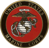 MARINE CORPS Color Medallion