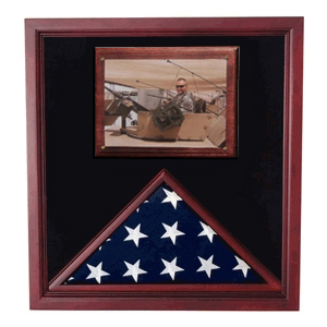 Army Air Corps Flag shadow case, Flag Frame with photo display