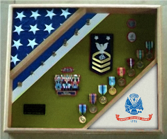 2 Flags Army case, Army Flag Display case