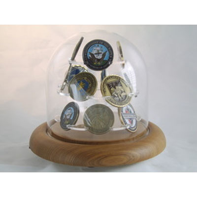Coin Display Glass Dome for challenge Coin