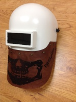 Leather Pipeliner Helmet