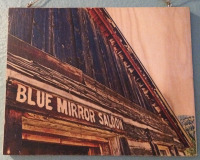 Blue Mirror Saloon on Wood