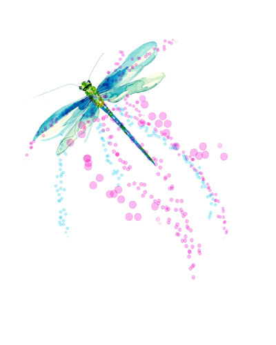 Dragon Fly Pink-Up-12x12