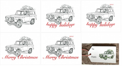 Bronco Holiday Pencil-2x3.5 Present Tag-No Copy