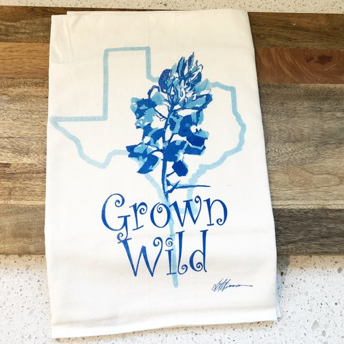 Grown Wild Texas Bluebonnet Flour Sack Towel