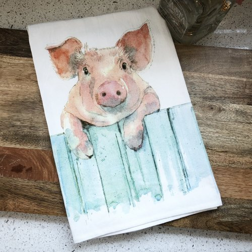 Pig Flour Sack Kitchen Towel