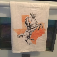 Cowboy In The Texas Sunset Flour Sack Towel