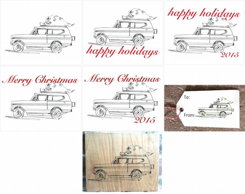 International Scout Pencil Holiday-2x3.5 Present Tag-Happy Holidays 2015 copy