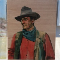 8x10 John Wayne 2 on Wood