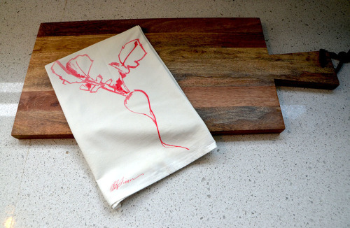 Radish Flour Sack Tea Towel