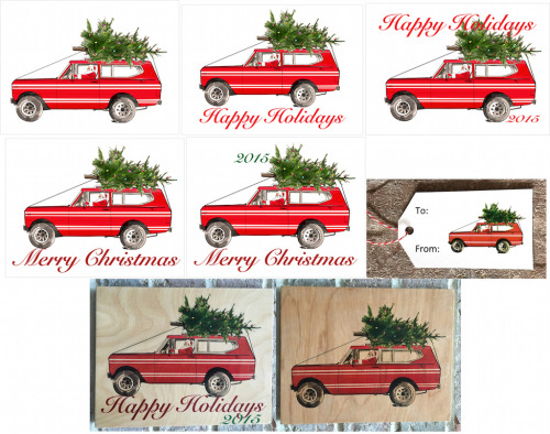 Red International Scout-2x3.5 Present Tag-Happy Holidays