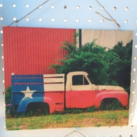 8x10 Texas Truck on Wood