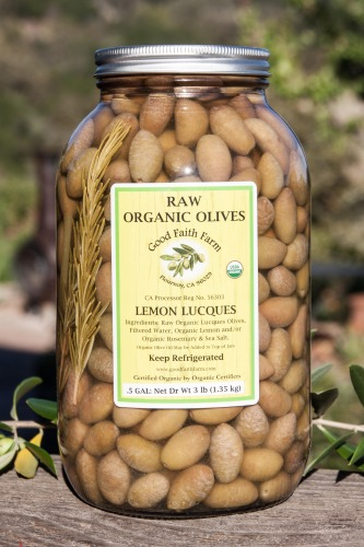 Raw Lemon & Rosemary Lucques Olives