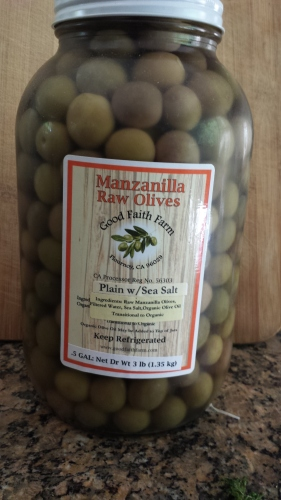 Half gallon Raw Manzanilla Olives