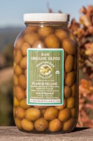 Raw Plain Organic  Sevillano Olives