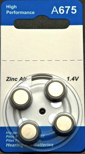 Hearing Aid Batteries Size 675, Box of 40