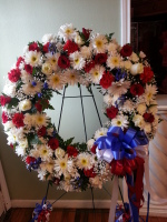 Red White and Blue Wreath ES3039