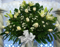 White Roses Tribute Basket ES3095