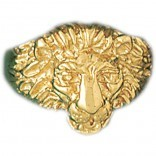 14k.Yellow gold lion's head ring