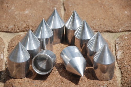 Single Aluminum Tips for Shallow Water Anchors-3/4 inch OD 11/16 inch ID