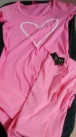 Jenni Heart Pink Shirt and blue shirt, Size XS
