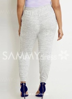 Casual High-Waisted Pocket Design Plus Size Pants For Women-3XL
