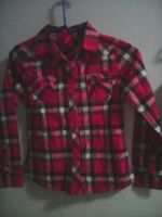 Girls button up flannel like top