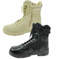 Men's Side Zip Outdoor Combat Climbing Sport Shoes Boots
