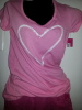 Pink Tee Traced Heart
