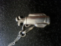 Sterling Silver Necklace with Golf Bag