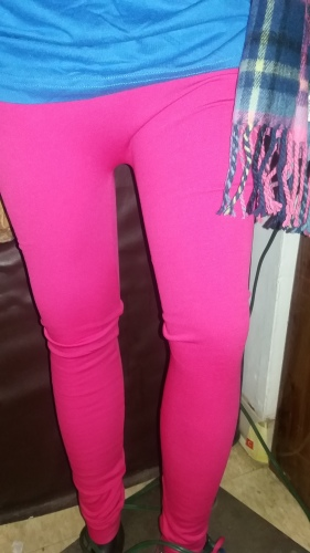 Trendy zip front Leggings