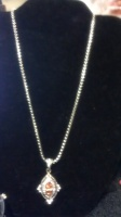 Silver Necklace w charm