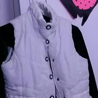 White trendy fashion vest