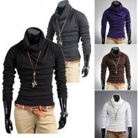 Men's Casual Slim Tee Tops