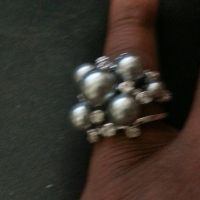Gray Pearl Ring