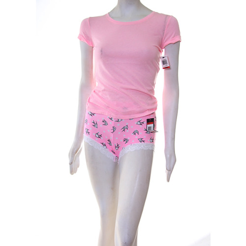 1 Material Girl pink birds SHORTS, AND 1 Material Girl  Pink TEE top.
