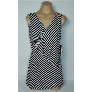 INC International Concepts Women's Sleeveless , V-Neck Top Blouse- Size Large