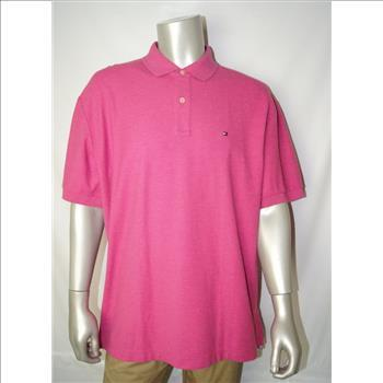Tommy Hilfiger New Men's Polo Shirt Solid Peony Heather Size X-Large