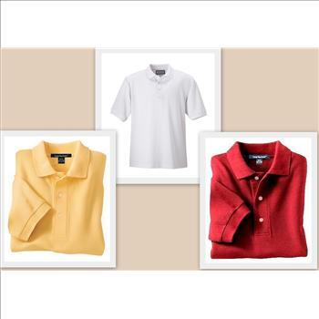 Men's Premium Pima Cotton Golf Shirts, Size 4XL