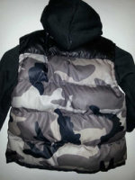 Kids black/gray camouflage Puffer Vest