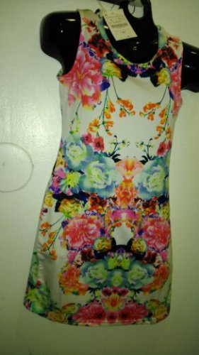 mixed flower dress