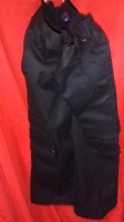 Black Cargo Pants for kids size 4