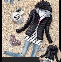 Black ThinStyle Puffer