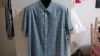 Collared blue short sleeve, button Up