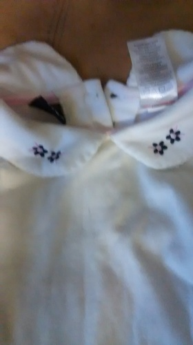 collared white shirt for lil girl