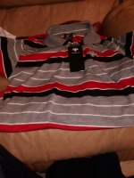 Golfers Style Striped Polo Top
