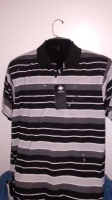 BlacK Stripe Polo Top