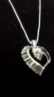 Silver chain Necklace with Heart Charm
