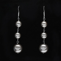 Sterling Silver - Cultured Pearl Ball Earrings