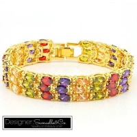 31.0ctw Multi-Color Gems Tennis Bracelet